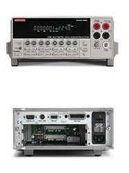 Keithley 2700. Multimetro / Adquisidor de Datos / Sistema de Switcheo. Serie Integra. Multimetro integrado de 6 ½ digitos (22 bits) Capacidad de 2 slots para modulos. Hasta 80 canales diferenciales de entrada. Interface RS232 y GPIB (IEEE-488.2)